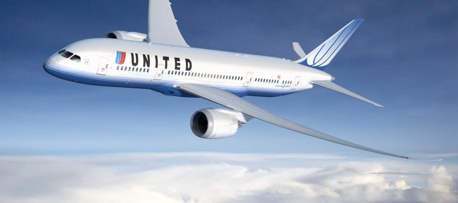 United new business class aircraft goes into service