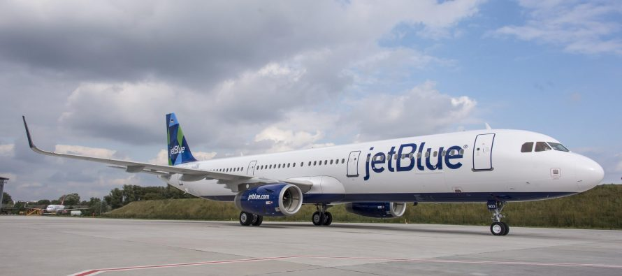 JetBlue Airways reports March traffic