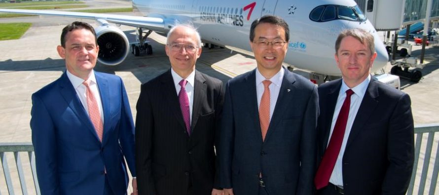 First Airbus A350 XWB for Asiana Airlines