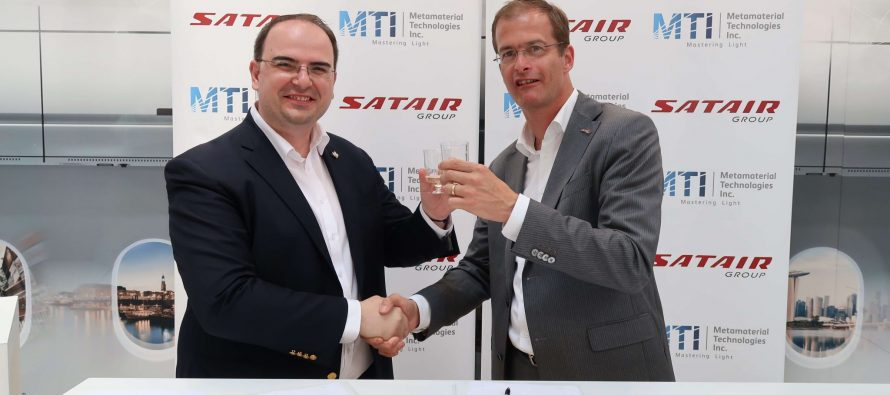 Satair Group and Metamaterial Technologies sign MOU to bring innovative laser strike protection to civil aviation market