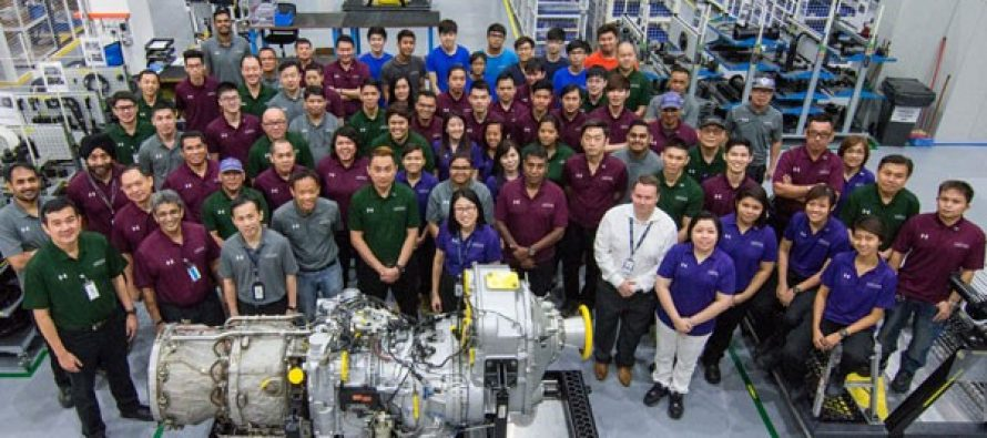 Vector Aerospace celebrates 100th P&WC PW150A engine delivery from Singapore facility