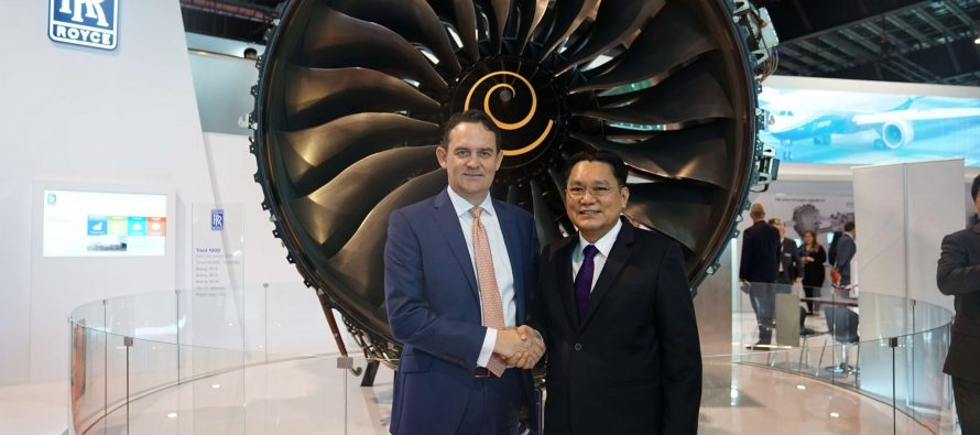 Rolls-Royce and Thai Airways International sign testbed agreement