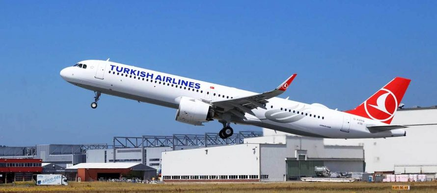 Airbus delivers the first A321neo in Cabin Flex configuration to Turkish Airlines