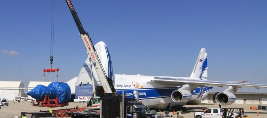 Volga-Dnepr Airlines safely delivers one GE9X engine