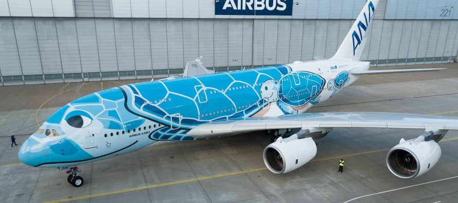 ANA receives first A380 from Airbus