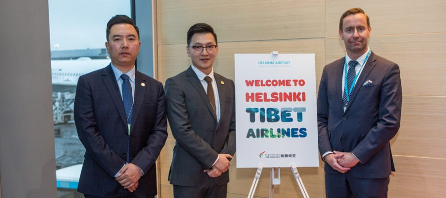 Tibet Airlines opens a route between Jinan and Helsinki