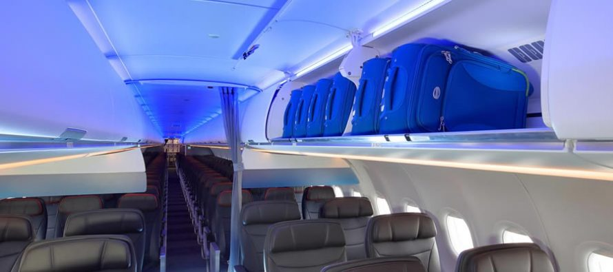 American Airlines launches A321neo service with new cabin, larger overhead luggage bins