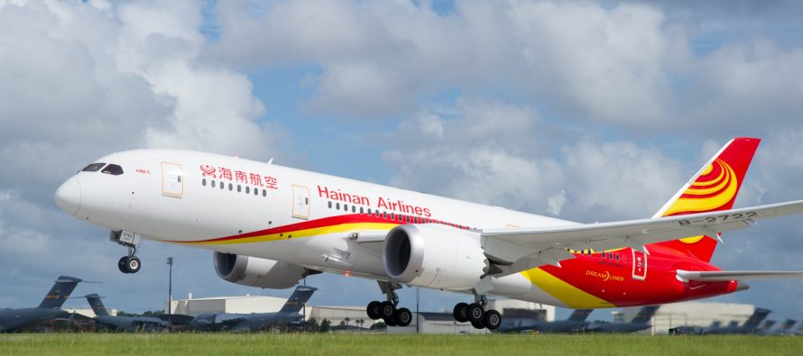 Hainan Airlines to launch Chongqing-Shanghai-Boston and Chongqing-Shanghai-Seattle service in December