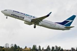 Westjet's 100NG CGP YK493 4268 737-800 First Flight Renton K65794