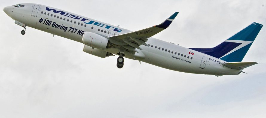 WestJet reports record February traffic