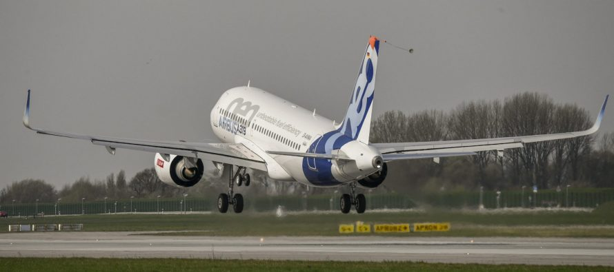 Maiden flights of the Airbus A319neo