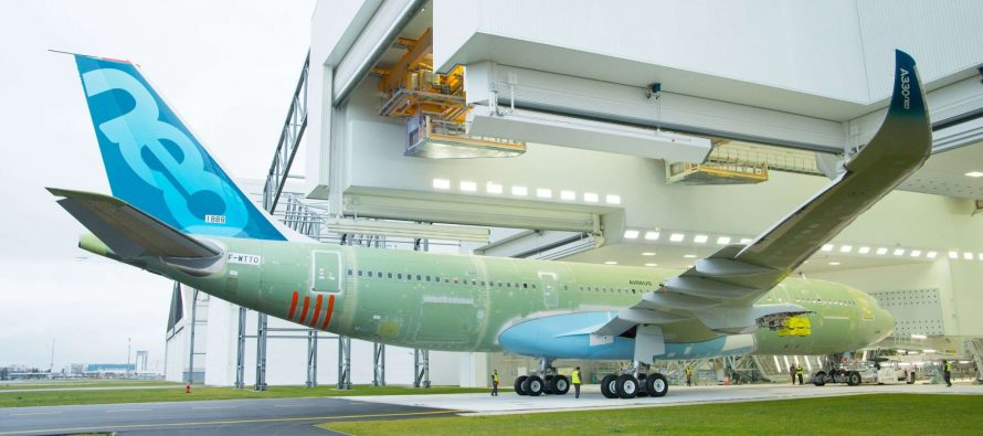 New A330-800 rolls-out of paintshop