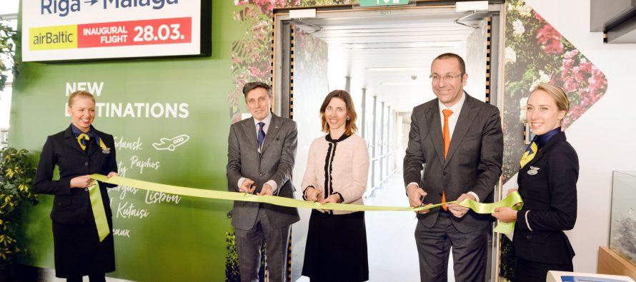 airBaltic launches flights between Riga and Malaga