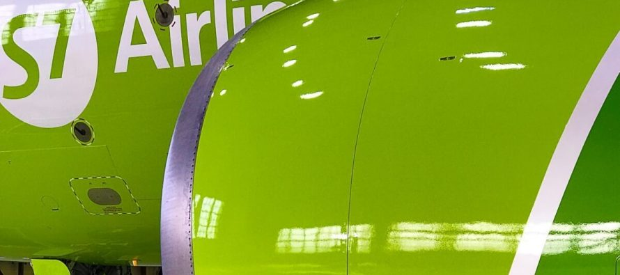 S7 Technics paints S7 Airlines' aircraft