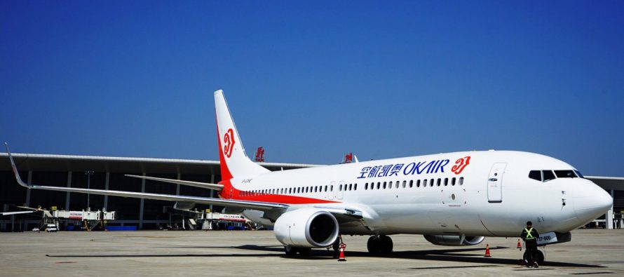 AviaAM Financial Leasing China delivers new 737 to Okay Airways