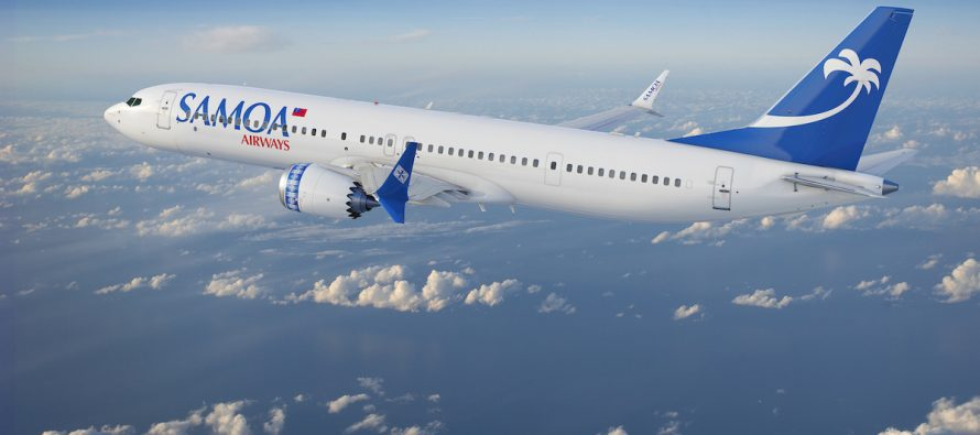 ALC places one new 737 MAX 9 on lease with Samoa Airways