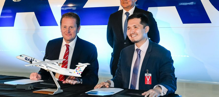 Bombardier delivers one Q400 Aircraft to Qazaq Air