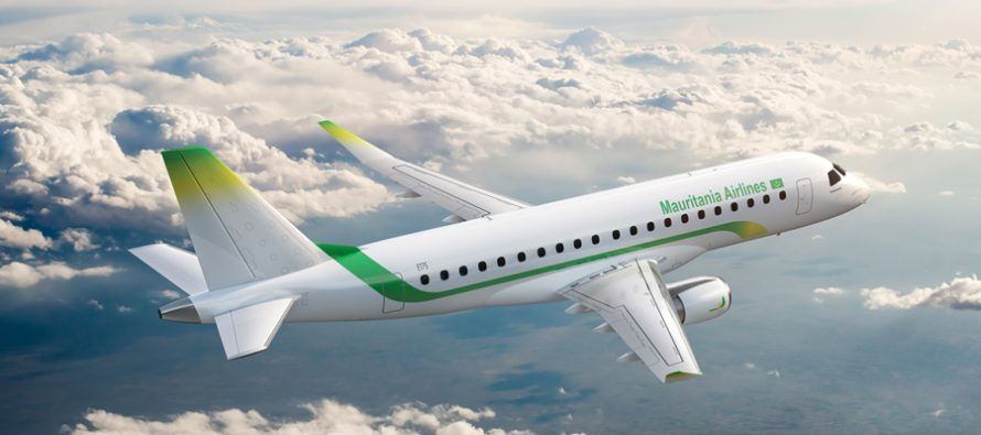 Embraer and Mauritania Airlines sign pool program agreement for new E175 Fleet