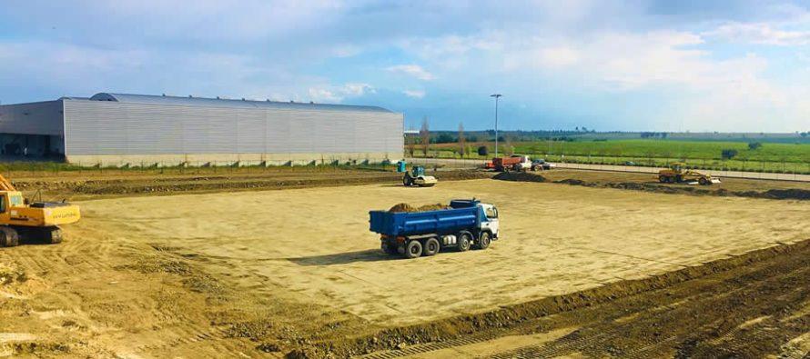 Mesa hangar construction gets underway