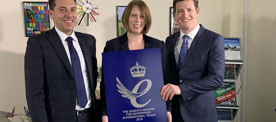 Aviation News Ltd awarded the Queen's Award for Enterprise for International Trade 2019