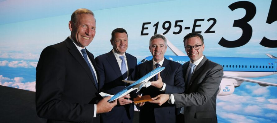 KLM Cityhopper announces intention to purchase 35 Embraer E195-E2 jets