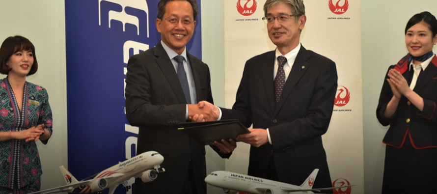 MAB and JAL pursue joint business agreement