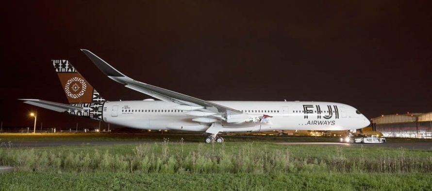 First Fiji Airways A350 XWB rolls out of paint shop